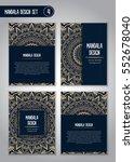 tribal mandala design set.... | Shutterstock .eps vector #552678040