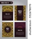 tribal mandala design set.... | Shutterstock .eps vector #552678070