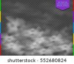 fog or smoke isolated...   Shutterstock .eps vector #552680824