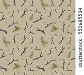 christmas rustic pattern... | Shutterstock . vector #552685534