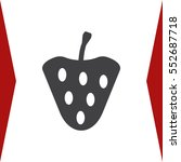 strawberry icon vector flat...