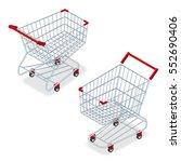 isometric shopping supermarket... | Shutterstock .eps vector #552690406