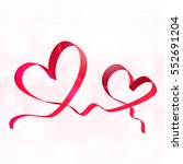 Two Red Ribbon Hearts....