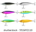 fishing lures set. realistic... | Shutterstock .eps vector #552692110