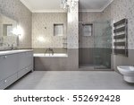 bathroom with a beautiful... | Shutterstock . vector #552692428