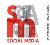 vector social media. broken... | Shutterstock .eps vector #552693268