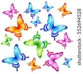 beautiful butterflies  on a... | Shutterstock .eps vector #552694528