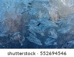 texture of ice with blue back... | Shutterstock . vector #552694546