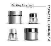 jars of cream for the body. a... | Shutterstock .eps vector #552696628