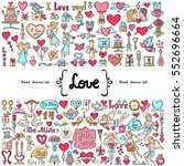 vector set with hand drawn... | Shutterstock .eps vector #552696664