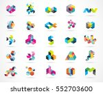 creative  digital abstract... | Shutterstock .eps vector #552703600
