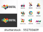 creative  digital abstract... | Shutterstock .eps vector #552703609
