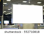 white empty signboard at airport | Shutterstock . vector #552710818