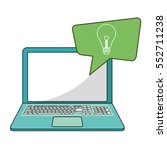 laptop social media bubble... | Shutterstock .eps vector #552711238