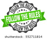 follow the rules. stamp.... | Shutterstock .eps vector #552711814