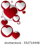 vector background with hearts ... | Shutterstock .eps vector #552714448