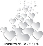 vector background with hearts ... | Shutterstock .eps vector #552714478