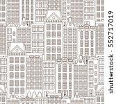 city seamless pattern. european ... | Shutterstock .eps vector #552717019