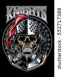 skull of knight warrior | Shutterstock .eps vector #552717388