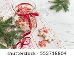 christmas gingerbread cookies... | Shutterstock . vector #552718804