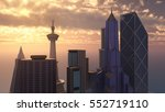 skyscrapers computer generated... | Shutterstock . vector #552719110