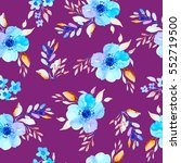 seamless pattern with... | Shutterstock . vector #552719500