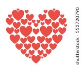red hearts love | Shutterstock .eps vector #552720790