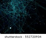 abstract network background. 3d ... | Shutterstock . vector #552720934