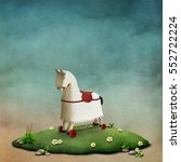 fantasy illustration or poster... | Shutterstock . vector #552722224
