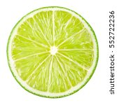 lime slice. fruit isolated on... | Shutterstock . vector #552722236