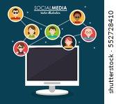 community social media computer ... | Shutterstock .eps vector #552728410