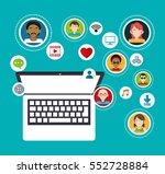 social media group computer... | Shutterstock .eps vector #552728884