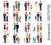 heterosexual couples and... | Shutterstock .eps vector #552729700