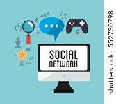 computer social network game... | Shutterstock .eps vector #552730798