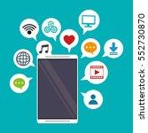 mobile applications bubbles... | Shutterstock .eps vector #552730870