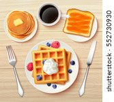 sweet classic breakfast with... | Shutterstock .eps vector #552730930