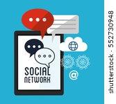 smartphone social network... | Shutterstock .eps vector #552730948