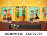 subway background with... | Shutterstock .eps vector #552731098