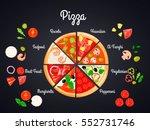 make create pizza conceptual... | Shutterstock .eps vector #552731746