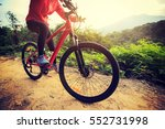 young asian woman riding bike... | Shutterstock . vector #552731998