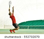 serve by professional tennis...   Shutterstock . vector #552732070