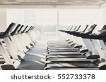 modern gym interior with... | Shutterstock . vector #552733378