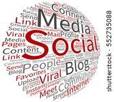 vector concept or conceptual... | Shutterstock .eps vector #552735088