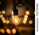 vintage bulbs decor interiors ...   Shutterstock . vector #552735400