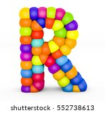 3d render letter r made with... | Shutterstock . vector #552738613