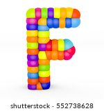 3d render letter f made with...   Shutterstock . vector #552738628