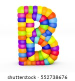 3d render letter b made with... | Shutterstock . vector #552738676