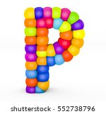 3d render letter p made with... | Shutterstock . vector #552738796