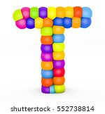 3d render letter t made with...   Shutterstock . vector #552738814