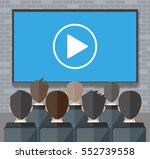 video conference concept. room... | Shutterstock .eps vector #552739558